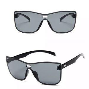 Accessories - Oversized Square Rimless Sunglasses
